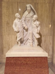 Image of statue in the Basilica of the Immaculate Conception in Washington, DC
